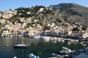 Symi harbor, Dodecanese Islands, Greece