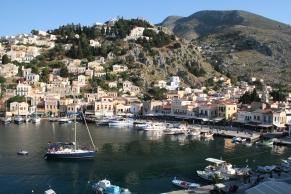 Symi harbor, Dodecanese Islands, Greece
